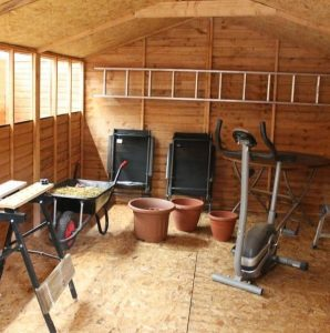 15 x 10 Standard Overlap Apex Modular Wooden Workshop inside
