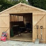 15 x 10 Standard Overlap Apex Modular Wooden Workshop side