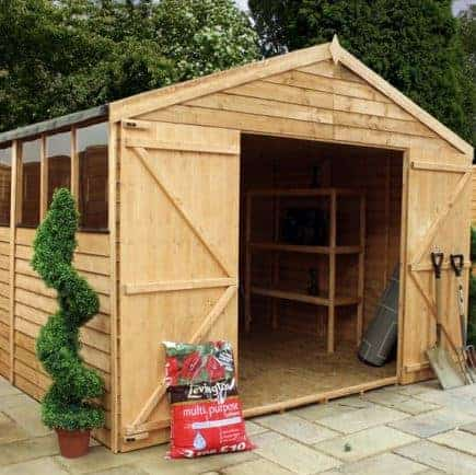 15' x 10' Standard Overlap Apex Modular Wooden Workshop