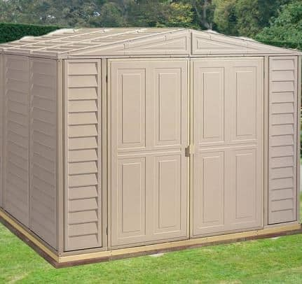 8' x 10' Duramax Duramate Steel Framed Plastic Apex Shed - What Shed
