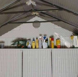 8' x 5' Lifetime Plastic Outdoor Storage Shed Wall and Air Vent