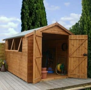 12' x 8' Double Door Shiplap Tongue and Groove Apex Shed