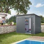 1.8m x 2.6m Biohort AvantGarde Metal Shed - Double Door Size L