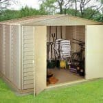 10' x 10' Duramax Woodbridge Steel Framed Vinyl Plastic Clad Metal Shed