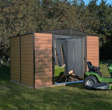 10' x 12' Rowlinson Woodvale Metal Garden Shed