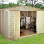 10' x 13' Duramax Woodbridge Steel Framed Vinyl Plastic Clad Metal Shed