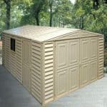 10' x 21' Duramax Steel Framed Vinyl Clad Apex Metal Garage Shed