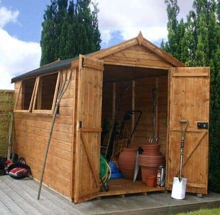 10' x 6' Double Door Shiplap Tongue and Groove Apex Shed