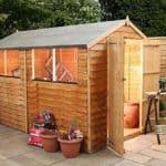 10' x 6' Double Door Standard Overlap Apex Garden Shed