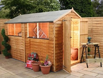 10' x 6' Double Door Standard Overlap Apex Garden Shed
