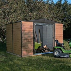 10' x 6' Rowlinson Woodvale Metal Garden Shed
