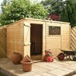 10' x 6' Single Door Tongue and Groove Pent Shed