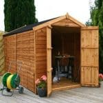 10' x 6' Windowless Overlap Apex Wooden Shed