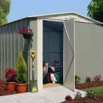 10' x 8' Canberra Metal Shed with Hinged Door