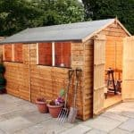 10' x 8' Double Door Standard Overlap Apex Garden Shed
