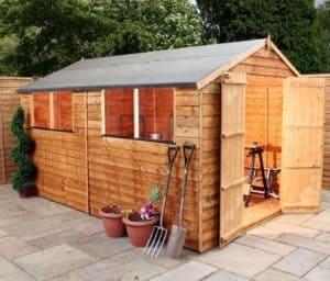 10' x 8' Double Door Standard Overlap Apex Garden Shed