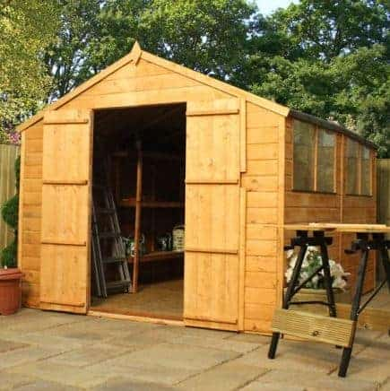 10' x 8' Double Door Tongue and Groove Apex Shed