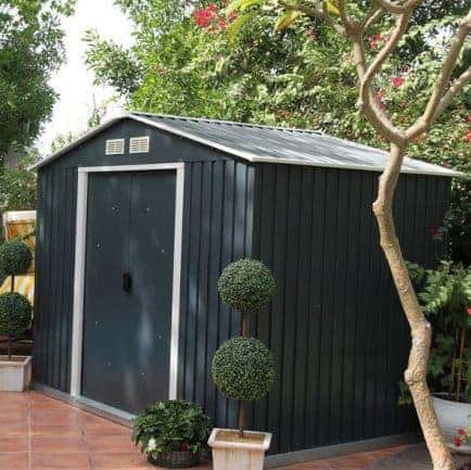 10' x 8' Emerald Anthracite Metal Shed