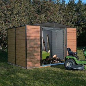10' x 8' Rowlinson Woodvale Metal Garden Shed