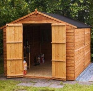 10' x 8' Windowless Overlap Apex Wooden Shed
