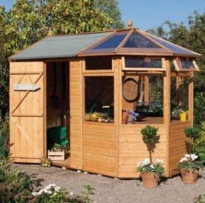 10'3'' x 6'8'' Rowlinson Deluxe Shiplap Potting Shed