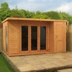 12' x 8' Cambridge Summer House With Side Shed