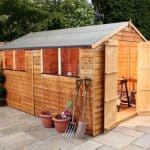12' x 8' Double Door Standard Overlap Apex Garden Shed