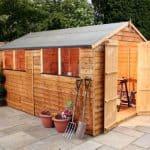 12' x 8' Double Door Standard Overlap Apex Garden Shed