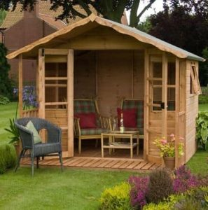 12' x 8' Stratford Summer House With Veranda