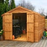 12' x 8' Windowless Overlap Apex Wooden Shed
