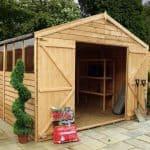15' x 10' Standard Overlap Apex Modular Wooden Workshops