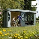 2.46m x 4.9m Rowlinson Connor Log Cabin - Factory Painted