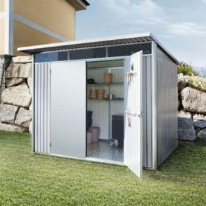 2.6m x 2.6m Biohort AvantGarde Metal Shed - Double Door Size XL