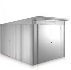 2.6m x 3.8m Biohort AvantGarde Metal Shed - Double Door Size XXL