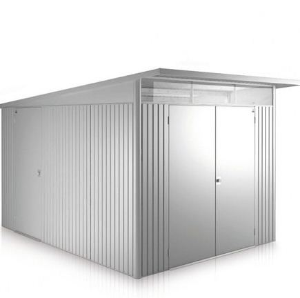 2.6m x 3.8m Biohort AvantGarde Metal Shed - Double Door Size XXL