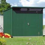2.6m x 3.8m Biohort AvantGarde Metal Shed - Single Door Size XXL