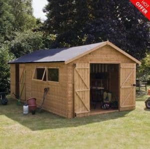 20' x 10' Shiplap Tongue and Groove Workshop Shed