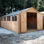 20' x 10' Standard Overlap Apex Modular Wooden Workshops