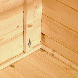 2m x 2.5m Mini Log Cabin Studio log cabin close up