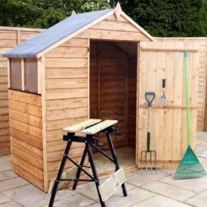 3' x 6' Overlap Apex Garden Shed