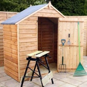 3' x 6' Overlap Apex Garden Shed With No Windows