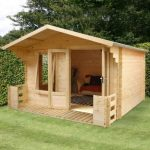 3.4m x 3.3m Standard Log Cabin Studio with Veranda