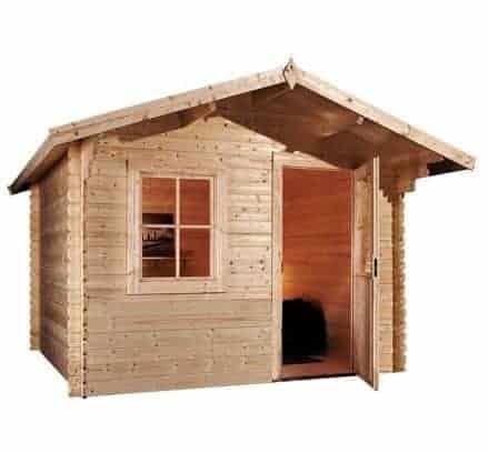 3m x 2.4m Escape Log Cabin