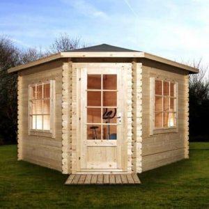 3m x 3m Corner Log Cabin