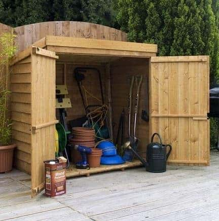 4 8 x 3 1 standard overlap mower shed for Garden shed 4 x 3