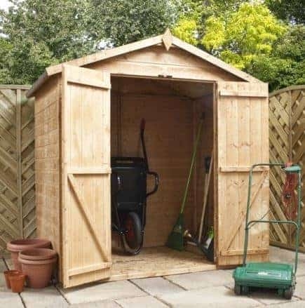 4' x 6' Double Door Mini Tongue and Groove Apex Shed