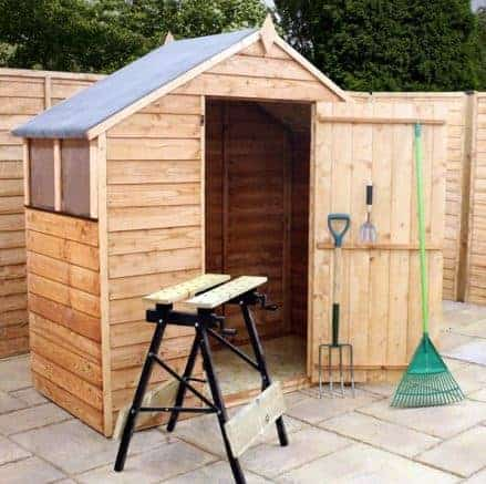 4' x 6' Overlap Apex Garden Shed