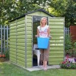 4' x 6' Palram Skylight Plastic Olive Green Shed Feature