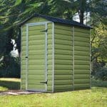 4' x 6' Palram Skylight Plastic Olive Green Shed Overall Views