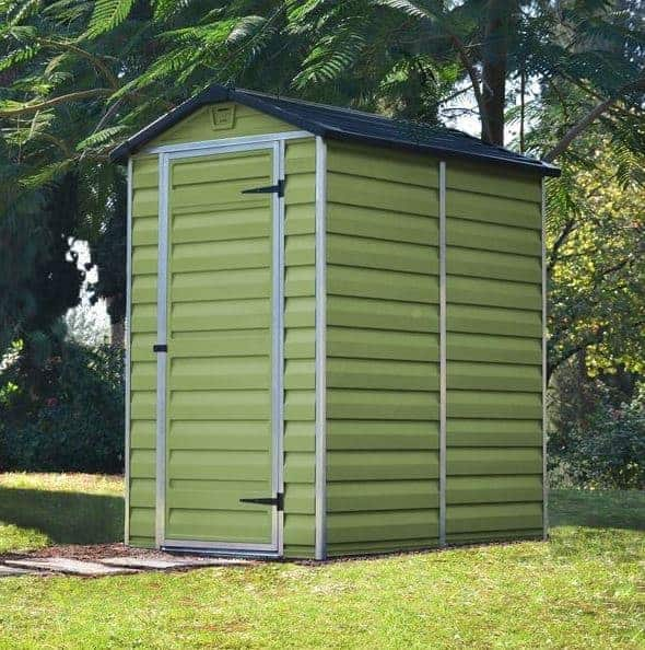 4 X 6 Palram Skylight Plastic Olive Green Shed